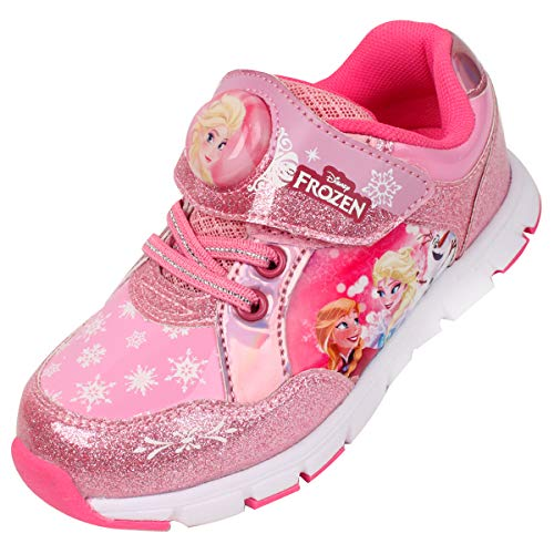 Joah Store Light Up Pink Shoes for Girls Sneakers Elsa Anna Shoes (Parallel Import/Generic Product) (11 M US Little Kid, Frozen Elsa_A) -