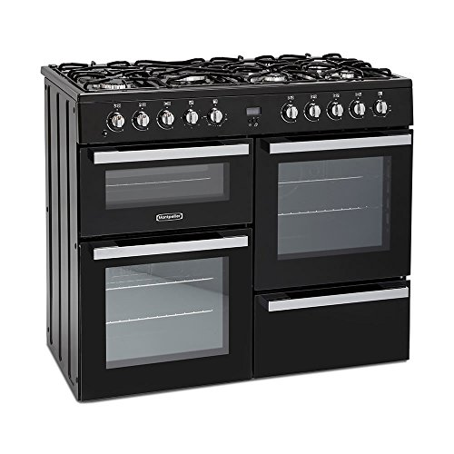 Montpellier MDF100K 100cm Dual Fuel Range Cooker - Black