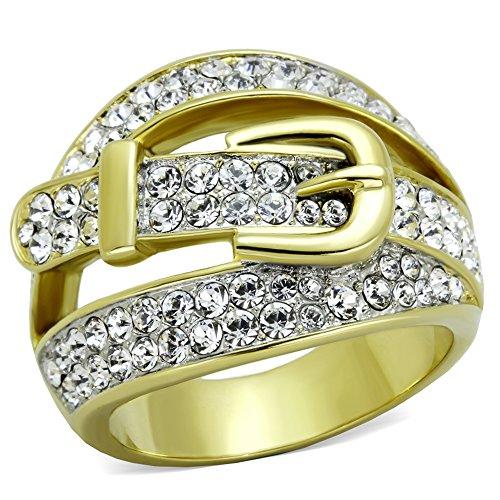 18mm Designer Belt Buckle Fashion Ring Stainless Steel