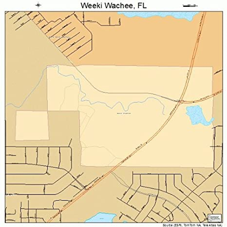 Amazon Com Large Street Road Map Of Weeki Wachee Florida Fl