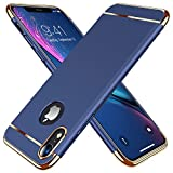 TORRAS [Lock Series] iPhone XR Case 3 in 1 Luxury Hybrid Hard Plastic with Matte Finish Slim Thin Phone Case for iPhone XR 6.1 inches, Navy Blue