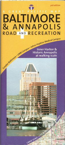 Baltimore & Annapolis Road & Recreation Map, 3rd Edition