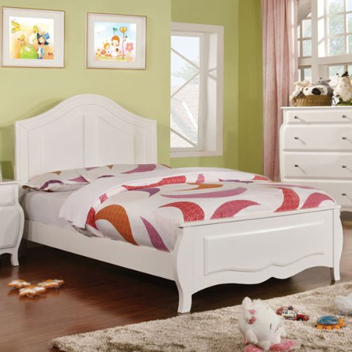 247SHOPATHOME Idf-7940F Childrens-Bed-Frames, Full, (White Wood Bedroom Bed)
