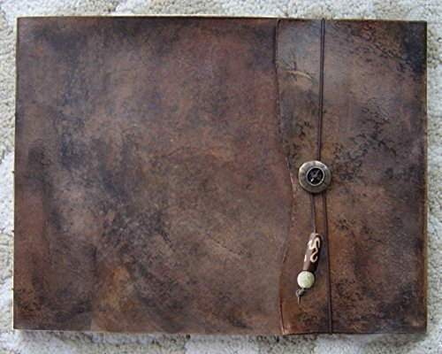 9.5'' x 12'' Large Refillable Leather Sketchbook, Old World Handmade leather sketchbook cover leather journal guest book refillable sketchbook drawing book sketching drawing art by ZenfishLeather