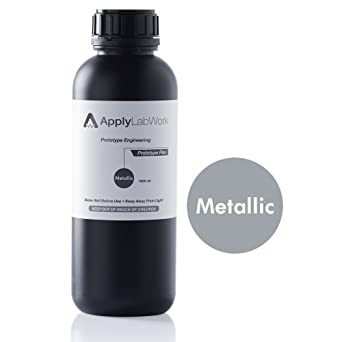 ApplyLabWork PT-F001MT Formlabs Compatible 3D Resin, Prototype Engineering  Series, Flex, SLA UV Printing Material, 1 Liter, Metallic