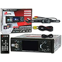 Power Acoustik PD-348B 1-DIN 3.4 Car DVD MP3 CD Stereo Bluetooth + Remote & DCO Waterproof Backup Camera with Nightvision