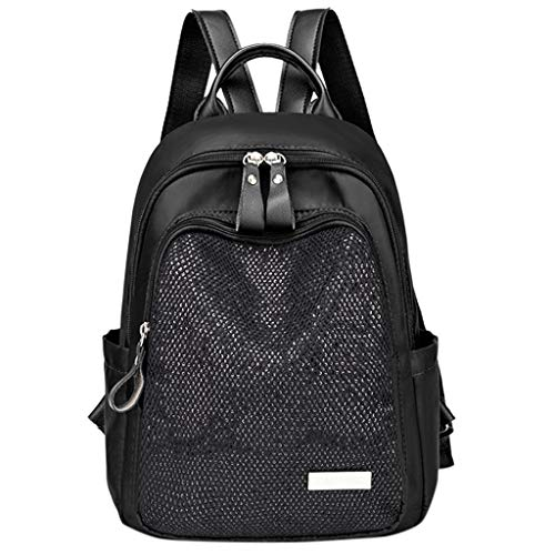School Backpack for Girls/Boys,Women Oxford Cloth Student Backpack Simple Fashion Wild Outdoor Travel Backpack Black