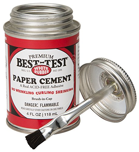 Best-Test Premium Paper Cement 4OZ - Best Rubber Test Cement