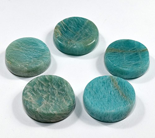 36mm Blue Green Amazonite Stand for Sphere/Egg Natural Sparkling Crystal Polished Feldspar Mineral Stone - India (1PC)