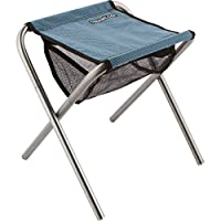Trekology Portable Folding Camping Stools, Ultralight Compact Camp Footrest Stool, Mesh Bag for Storage, Great for Travel, a Quick Rest Outdoors and for Chores Close to The Ground