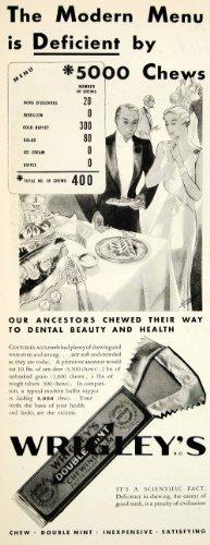 1932-ad-wrigleys-chewing-gum-doublemint-peppermint-candy-dental-buffet-health-original-print-ad