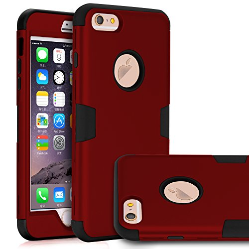 iPhone 6 Plus Case, iPhone 6s Plus Case,TOPSKY Three Layer Heavy Duty High Impact Resistant Hybrid Protective Case For iPhone 6 Plus and iPhone 6s Plus,with Screen Protector and Stylus, Red/Black