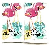 Mainstay Flour Sack Towels- Let's Flamingle