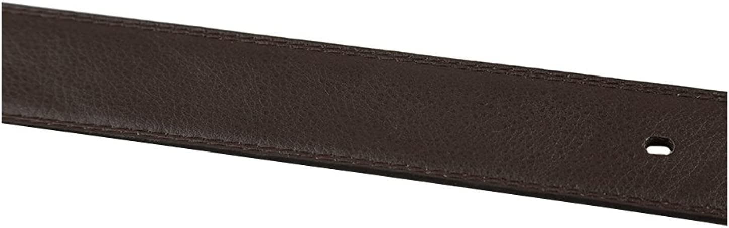 uxcell Mens Fashion Belt with Stripe Embossed Black Brown Width 1 5//8