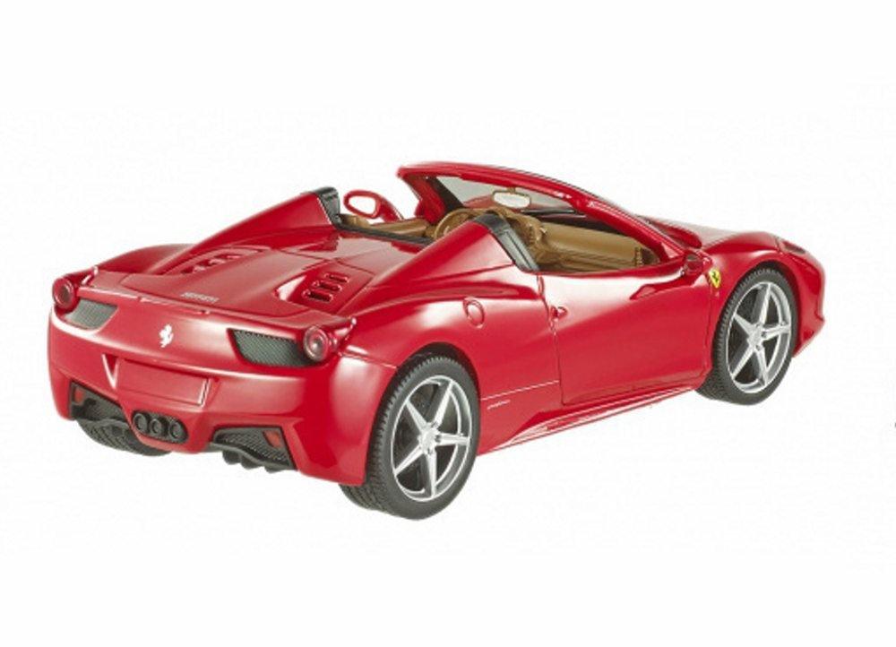 HOT WHEELS FERRARI 458 ITALIA RED 1//24 DIECAST MODEL CAR BLY64 NEW