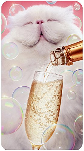 Cat With Champagne - Avanti Oversized Funny Birthday Card