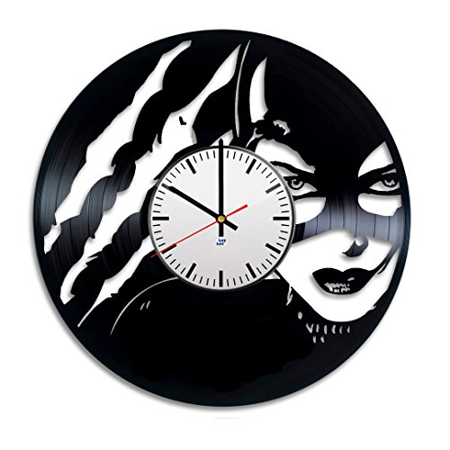 Modern Vinyl Record Wall Clock With a Comics Supergirl Design - Unique Home Room Wall Decor - Original Gift Idea For Boys and Girls - Exclusive Comics Fan