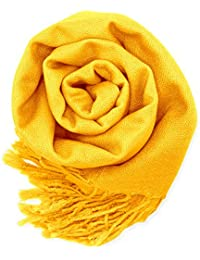Women's Soft Pashmina Scarf Winter Shawl Wrap Scarves Lady Fashion in Solid Colors
