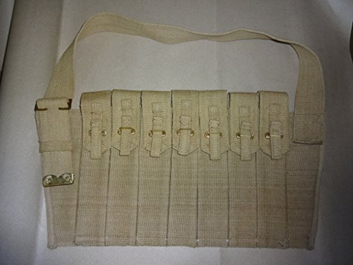 British WWII Sten Gun Seven Pocket Magazine Bandolier (British Bandolier compare prices)