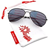 grinderPUNCH American Flag Aviator Sunglasses Glasses Gunmetal Color