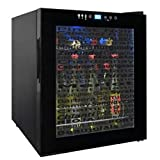 Vinotemp VT-15TSWV Wine Varietal 15-Bottle Wine Cellar, Black For Sale