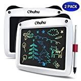 LCD Writing Tablet Colorful Screen, Ohuhu 2 Pack 9″ Electronic Drawing Doodle Board, LCD Digital Handwriting Pad Gifts for Kids Children at Home and School, Scribble and Play Learning Boards Ages 3+