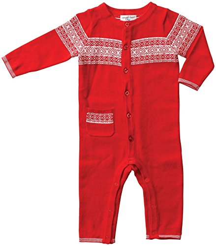 Angel Dear Unisex Baby Snow Berry Coveralls (Baby) - Red/White - 3-6 Months