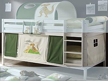 Vorhang Etagenbett Kinder : Amazon jugendmöbel vorhang dino teilig baumwolle
