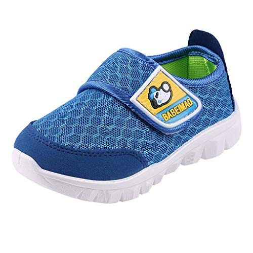 Tantisy ♣↭♣ Baby Sneaker Shoes for Girls Boy Kids Breathable Mesh Light Weight Athletic Running Walking Casual Shoes Blue