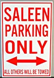 METAL STREET SIGN SALEEN PARKING ONLY 12 X 18