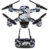 Skin for DJI Spark Mini Drone Combo - Gray Camouflage| MightySkins Protective, Durable, and Unique Vinyl Decal wrap cover | Easy To Apply, Remove, and Change Styles | Made in the USA