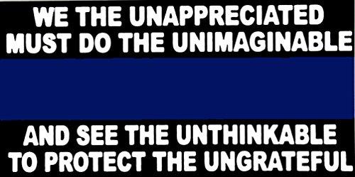 Ant Enterprises Wholesale Lot of 6 Police Thin Blue Line Unappreciated Decal Bumper Sticker