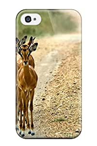 Hot Tpu Cover Case For Iphone/ 4/4s Case Cover Skin - Antelope