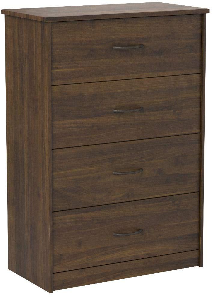 Mainstays 4-Drawer Dresser, (4-Drawer, Canyon Walnut, Handi Wipes) (4-Drawer, Canyon Walnut) by Mainstay/