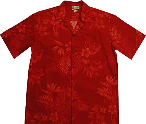 Red Christmas Fern Men's Hawaiian Shirt