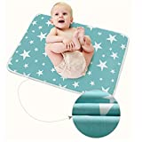 Infant Waterproof Urine Mat Cover - Breathable Changing Pad Protector for Baby Boys Girls (Fantasy Stars, L - 23.62 x 29.53 Inch (3 Piece))