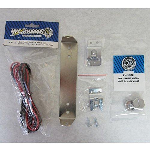 Chrome CB Radio Bracket Kit For Cobra 25LTD W/ CB3A-KN5PC-MI