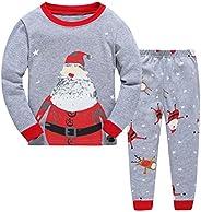 """kidsmall """"Santa Girls Boys Christmas Pajamas Kids Chirstmas Sleepwear Size"""