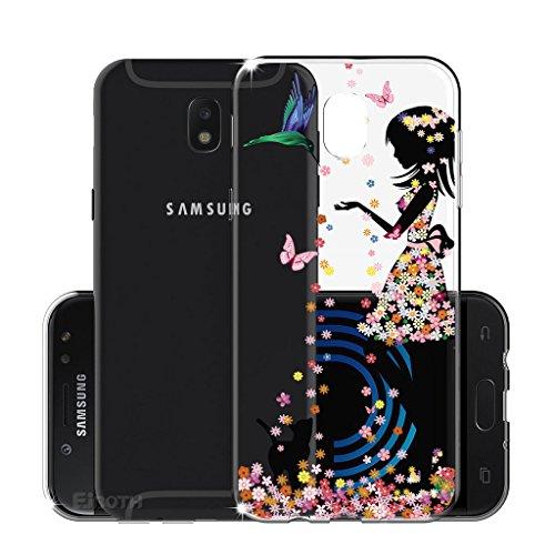 Funda para Samsung Galaxy J5 2017 (Sólo se aplica a la versión europea) , IJIA Transparente Atrapasueños Negro TPU Silicona Suave Cover Tapa Caso Parachoques Carcasa Cubierta para Samsung Galaxy J5 20 WM49
