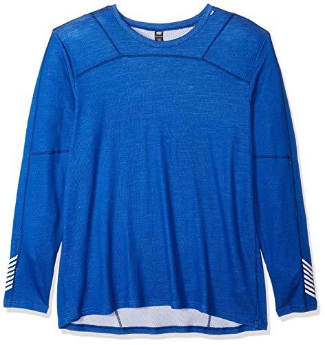 Helly Hansen Men's LIFA Merino Wool Baselayer Crew Top, Olympian Blue, 3X-Large