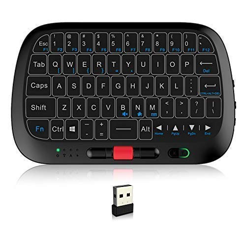 Global 1st 2.4G Mini Wireless Touch Keyboard, Touchpad as Keyboard and Mouse, 2 in 1, Built-in Motor Offering Better Typing Feel Than Physical Buttons, System Shortcuts, Zooming Feature Rii RT725