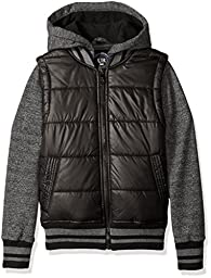 Urban Republic Big Boys\' Heavyweight Polyester Puffer Jacket, Black, 8