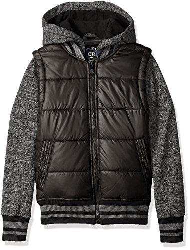 Urban Republic Little Boys' Heavyweight Polyester Puffer Jacket, Black, 7