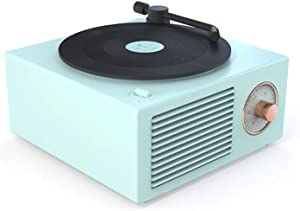 Ironhead Vinyl Record Player Style Bluetooth Speaker Old Fashioned Classic Style,Bass Enhancement Loud Volume Speaker,Support AUX RCA TF