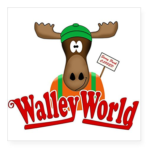 CafePress National Lampoon Walley World Moose Sign Sticker Square Bumper Sticker Car Decal, 3