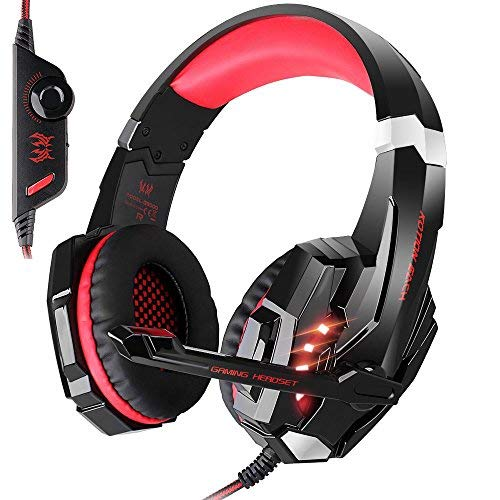 KOTION EACH G9000 3.5mm LED Light Headband Gaming Headset/Game Headphone with Microphone for PlayStation 4 PS4Tablet PC iPhone 6/6s/6 plus Mobilephones