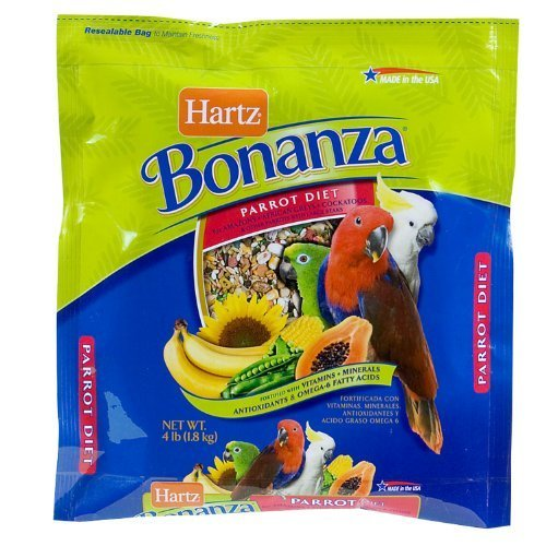 Hartz 97619 4 Lb Nutrition™ Bonanza™ Parrot & Other Large Hookbill Gourm by HARTZ
