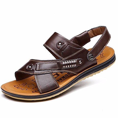 Sommer die neuen Männer sehnen Bottom Beach Schuh Sandalen Sandalen Sandals Schuh Cover Foot First Layer Fell Leder, Brown1, US = 6.5, UK = 6, EU = 39 1/3, CN = 39