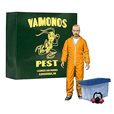 "Breaking Bad Jesse Pinkman 6"" Action Figure - Orange Hazmat Suit EE Exclusive.: Toys & Games"
