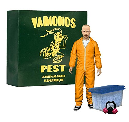 "Breaking Bad Jesse Pinkman 6"" Action Figure - Orange Hazmat Suit EE Exclusive."